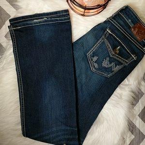 BKE Buckle Bootcut Dark Jeans- 26
